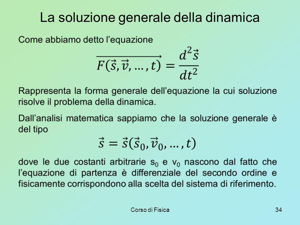La soluzione generale della dinamica