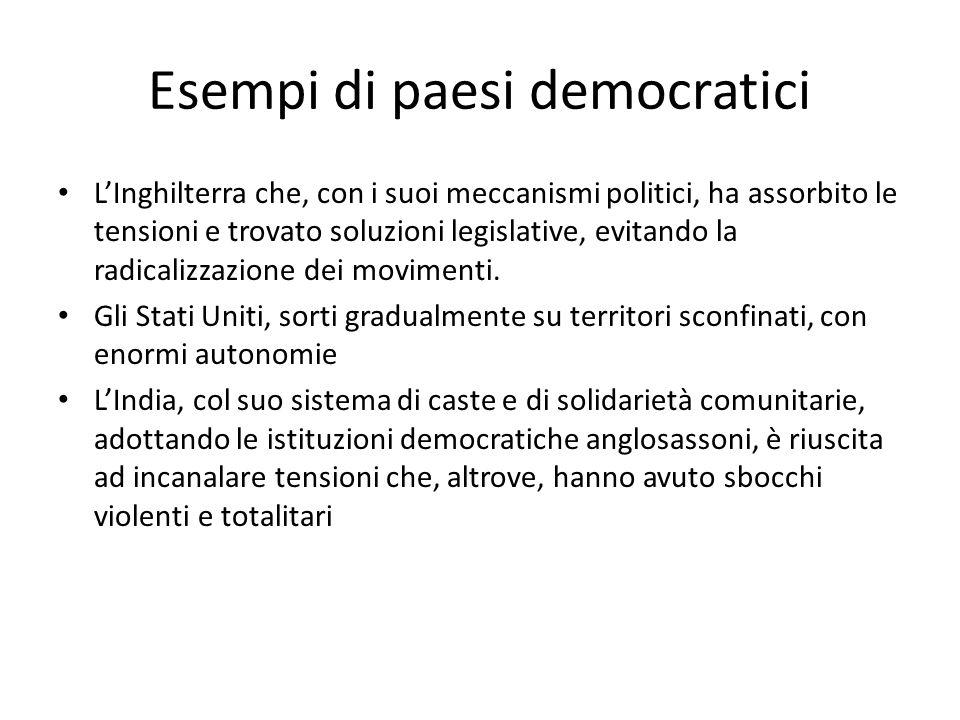 Esempi di paesi democratici