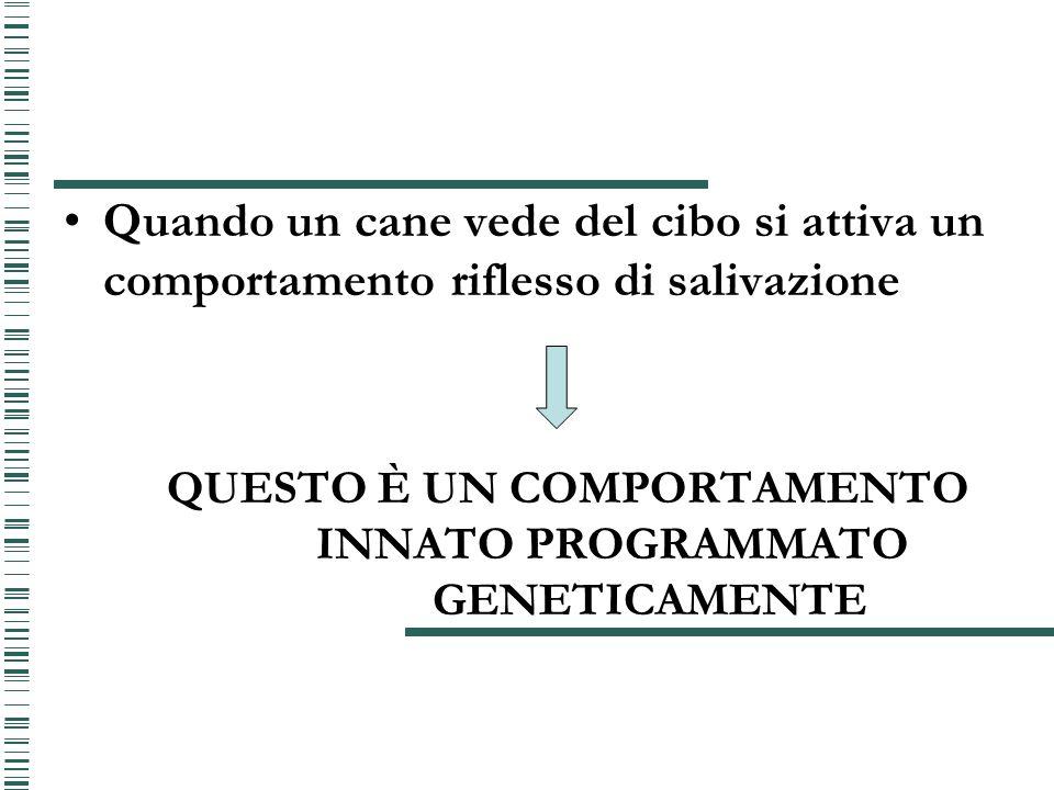 QUESTO È UN COMPORTAMENTO INNATO PROGRAMMATO GENETICAMENTE