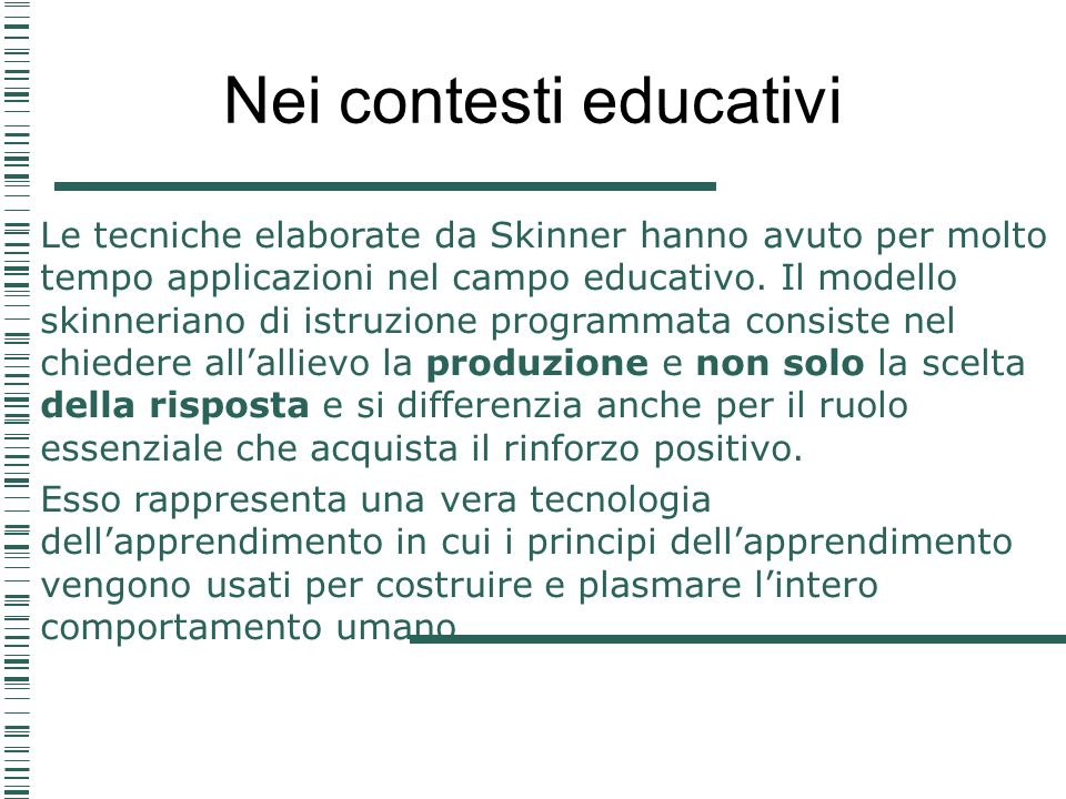 Nei contesti educativi