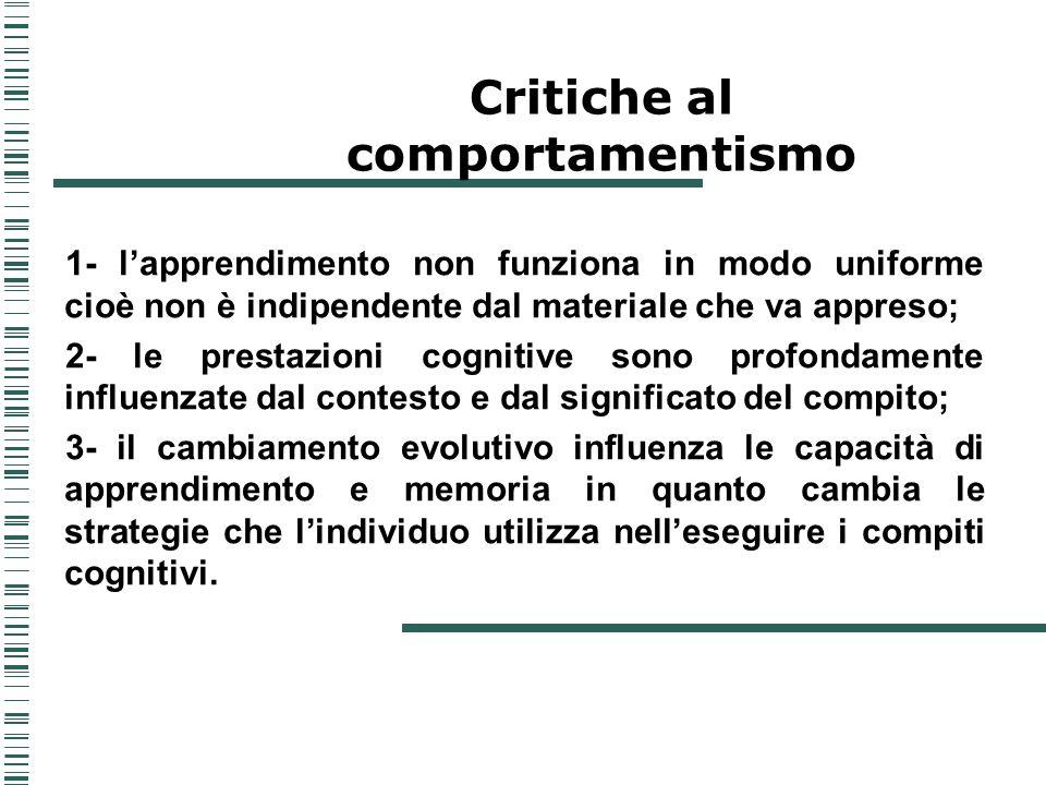 Critiche al comportamentismo