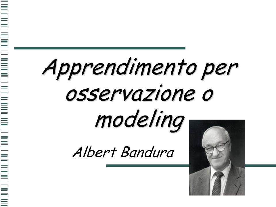Apprendimento per osservazione o modeling