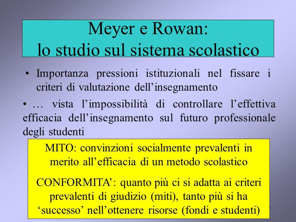 Meyer e Rowan: lo studio sul sistema scolastico