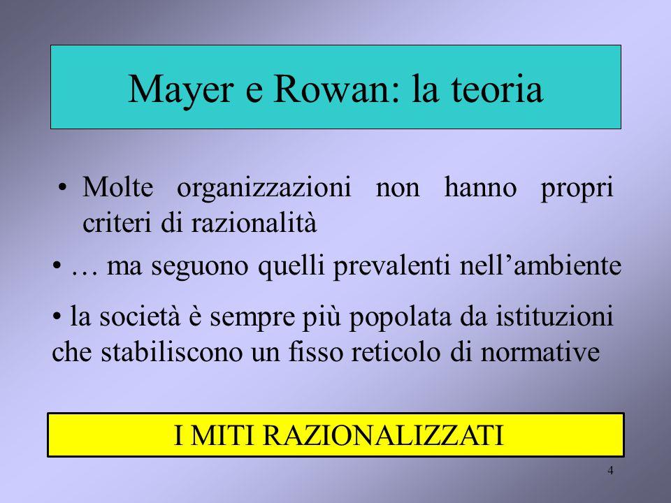 Mayer e Rowan: la teoria