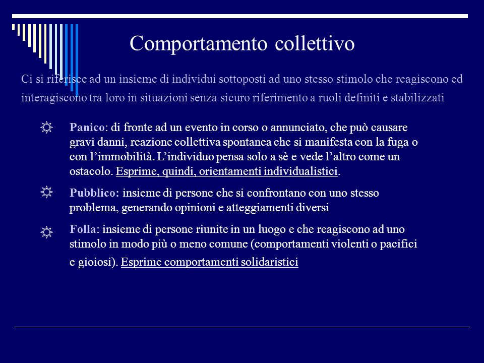 Comportamento collettivo