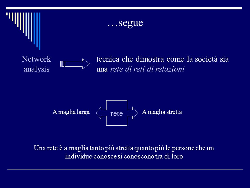 …segue Network analysis