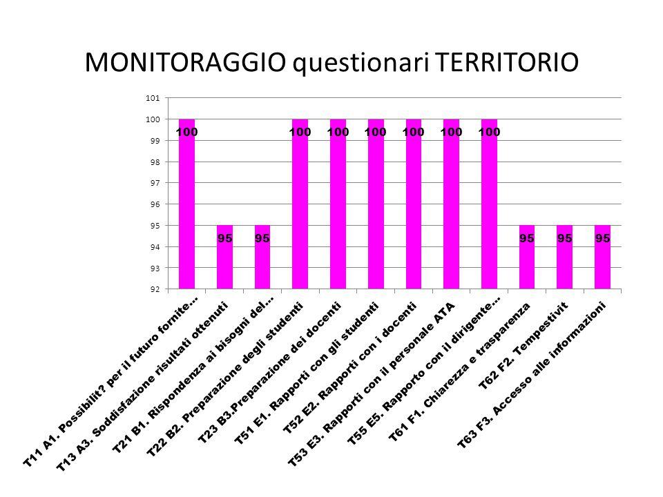 MONITORAGGIO questionari TERRITORIO