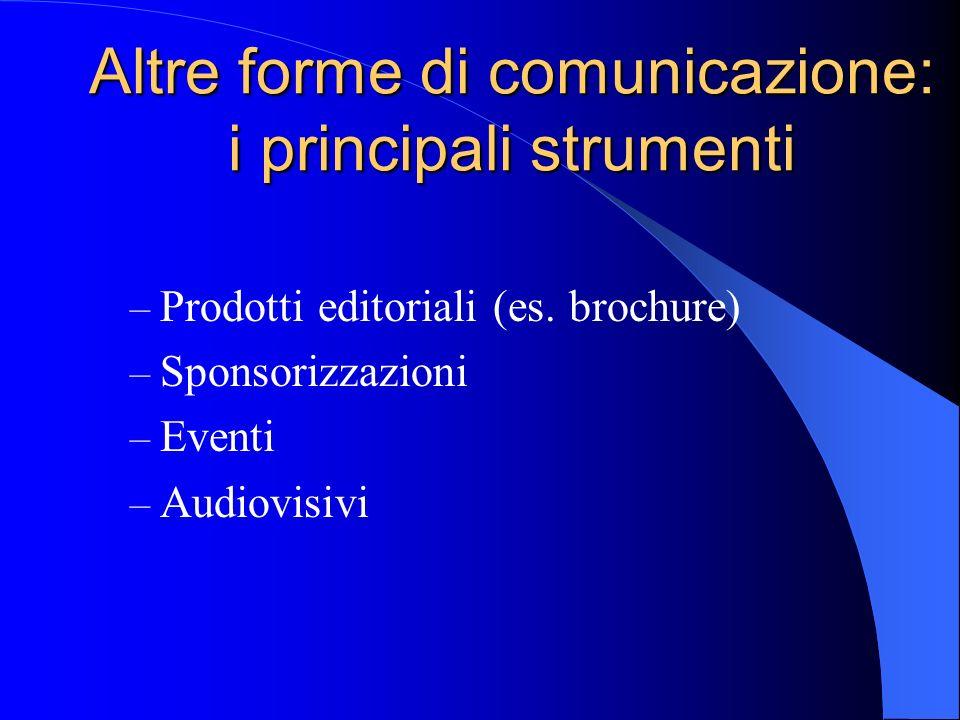 Altre forme di comunicazione: i principali strumenti