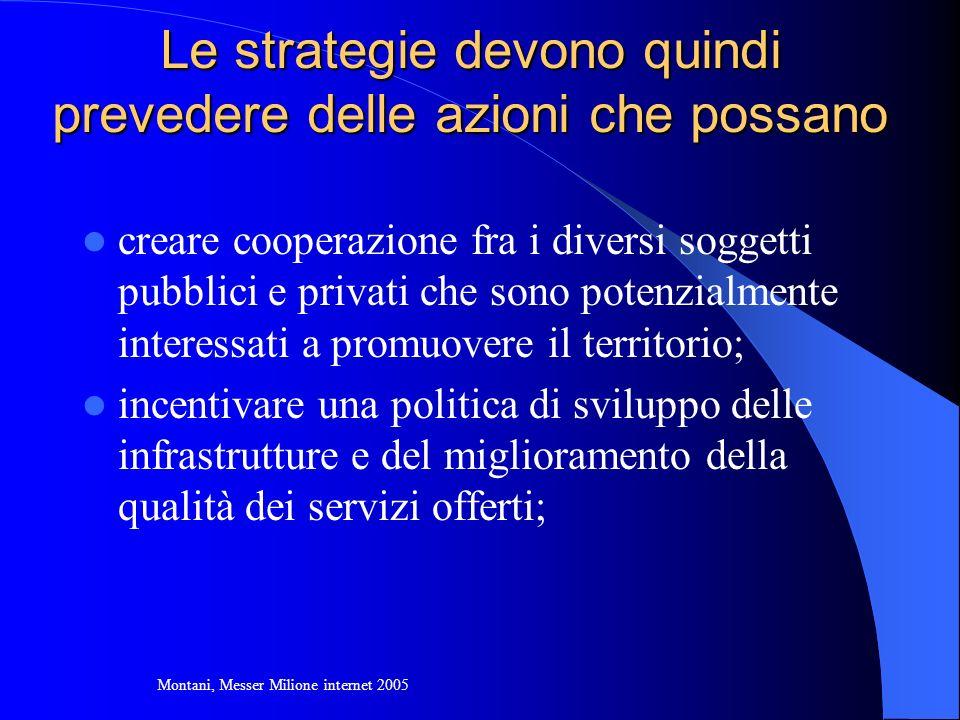 Le strategie devono quindi prevedere delle azioni che possano