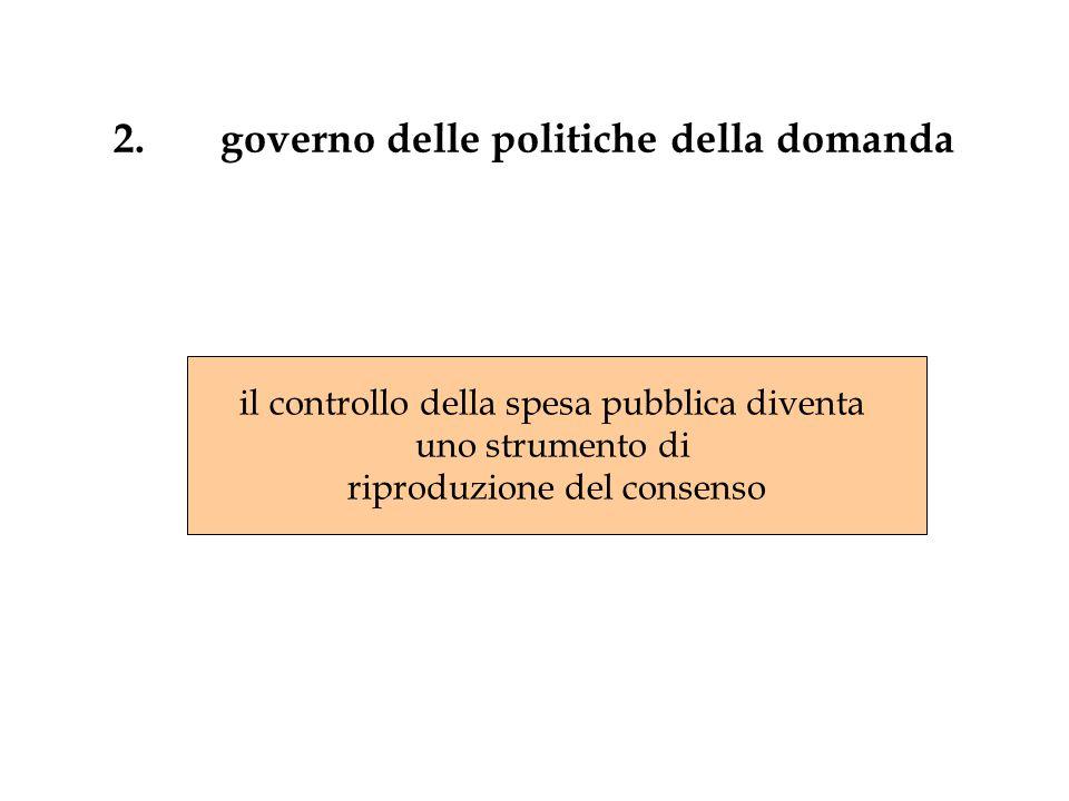 2. governo delle politiche della domanda