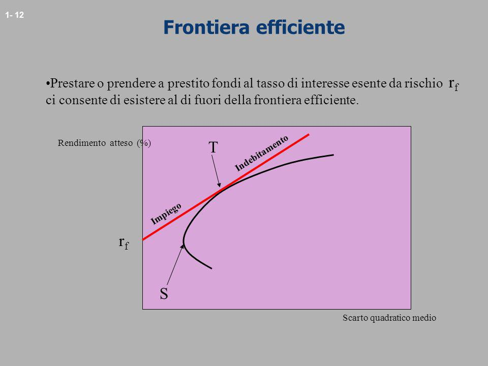 Frontiera efficiente T rf S