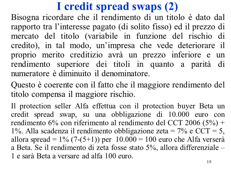 I credit spread swaps (2)