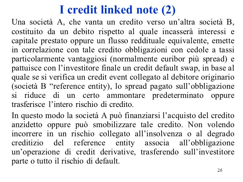 I credit linked note (2)