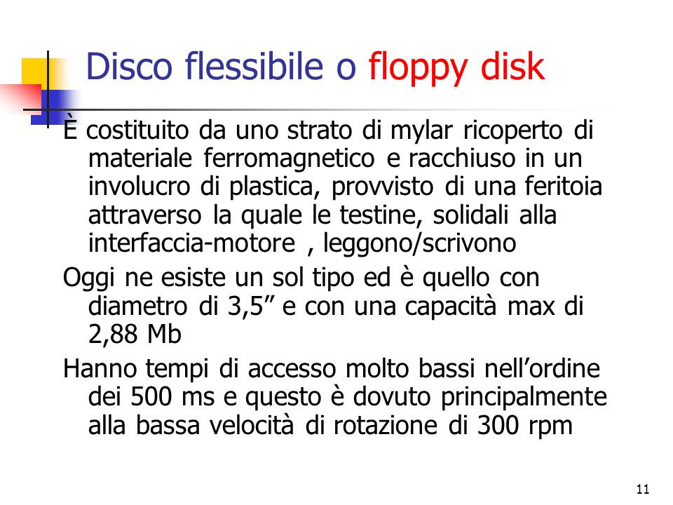 Disco flessibile o floppy disk