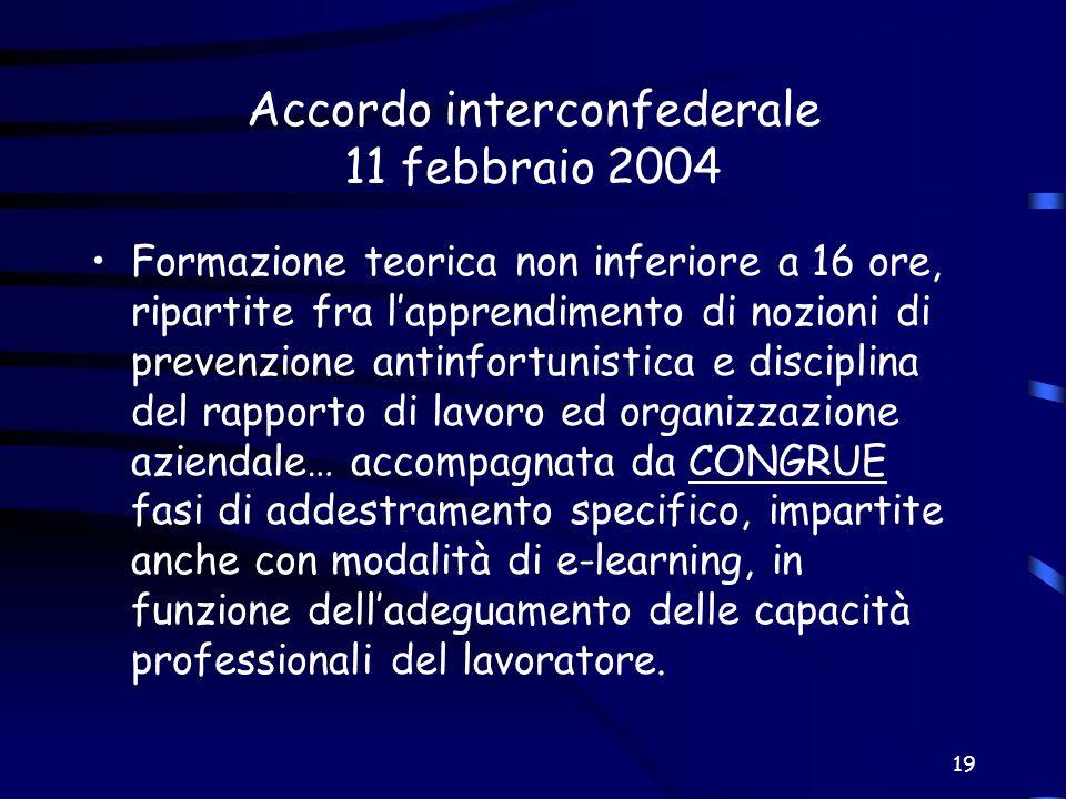 Accordo interconfederale 11 febbraio 2004