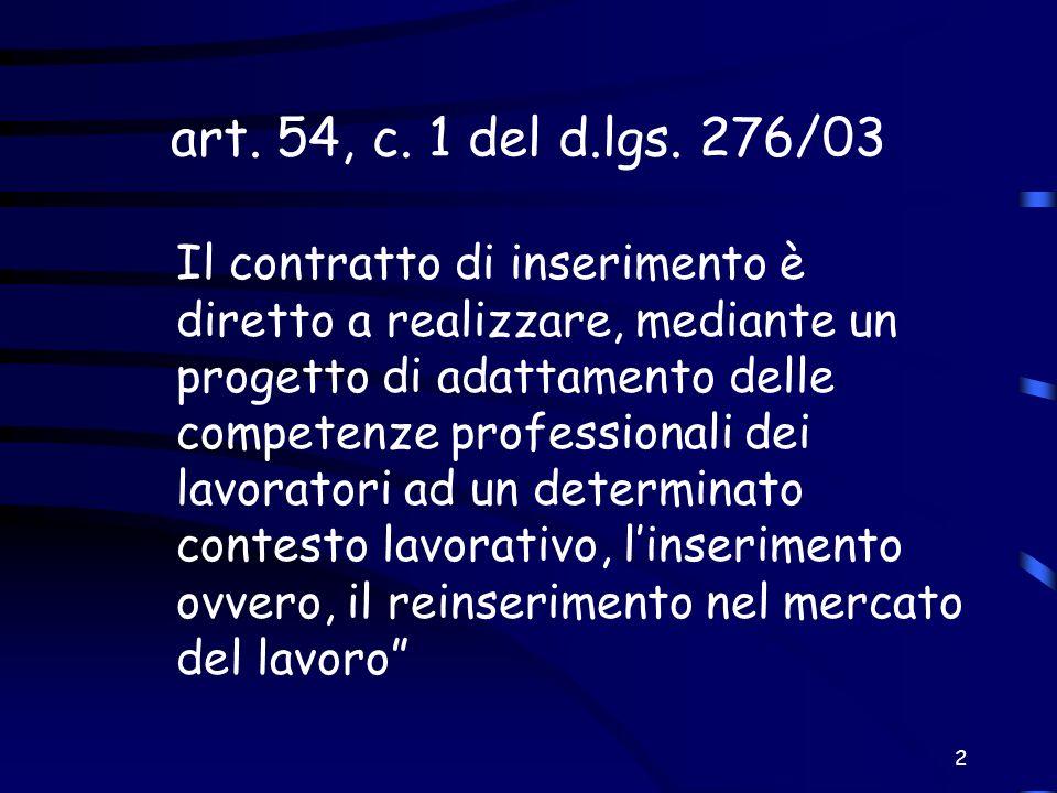 art. 54, c. 1 del d.lgs. 276/03