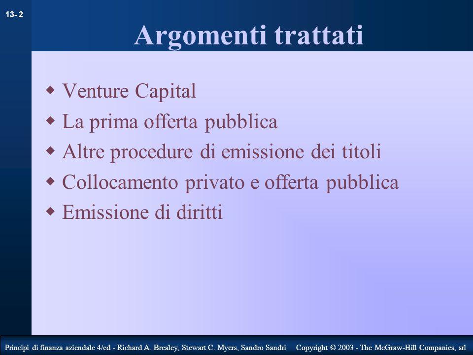 Argomenti trattati Venture Capital La prima offerta pubblica