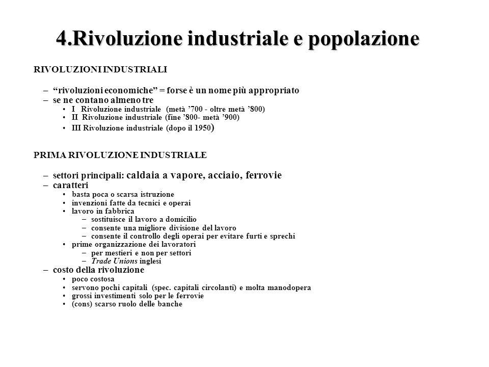Rivoluzione industriale e popolazione