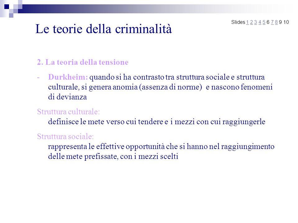Le teorie della criminalità