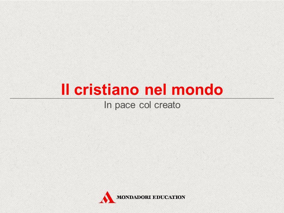 Il cristiano nel mondo In pace col creato *