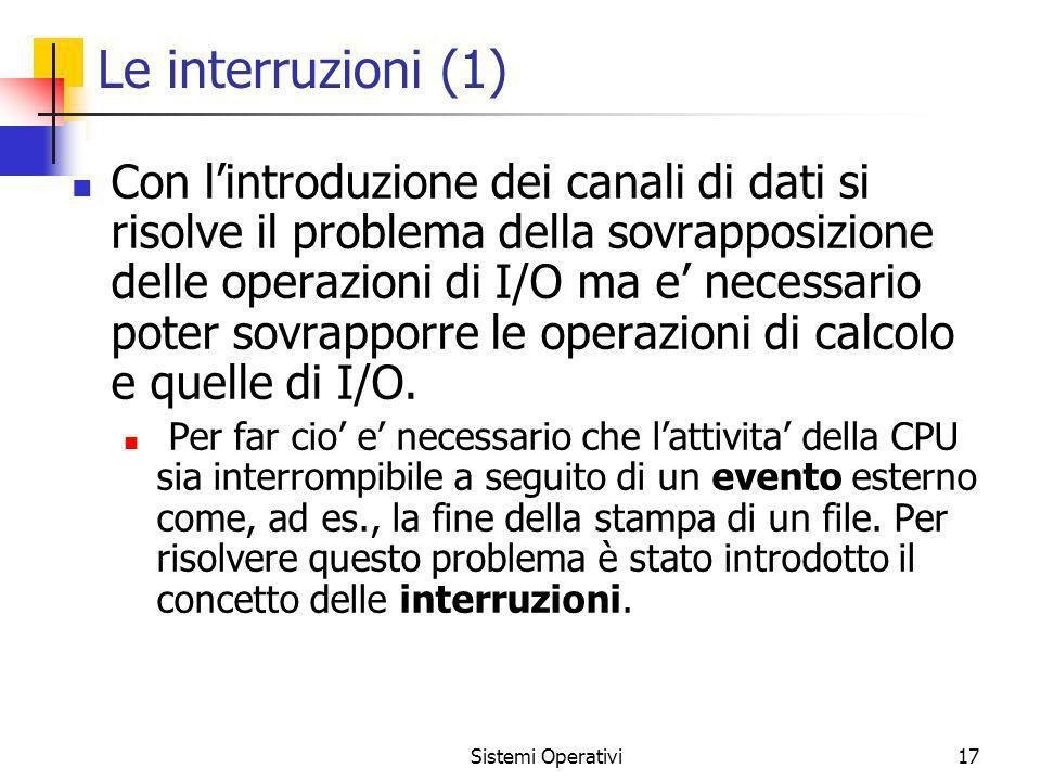 Le interruzioni (1)
