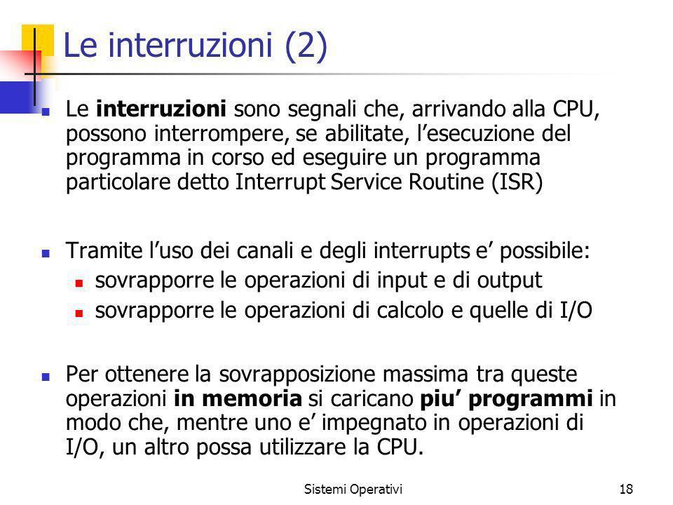Le interruzioni (2)