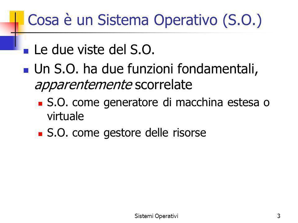 Cosa è un Sistema Operativo (S.O.)