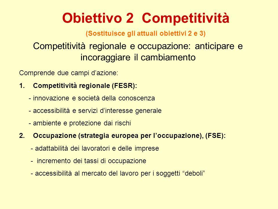 Obiettivo 2 Competitività