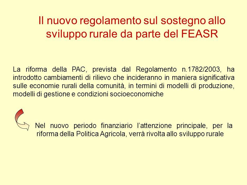 Il nuovo regolamento sul sostegno allo sviluppo rurale da parte del FEASR