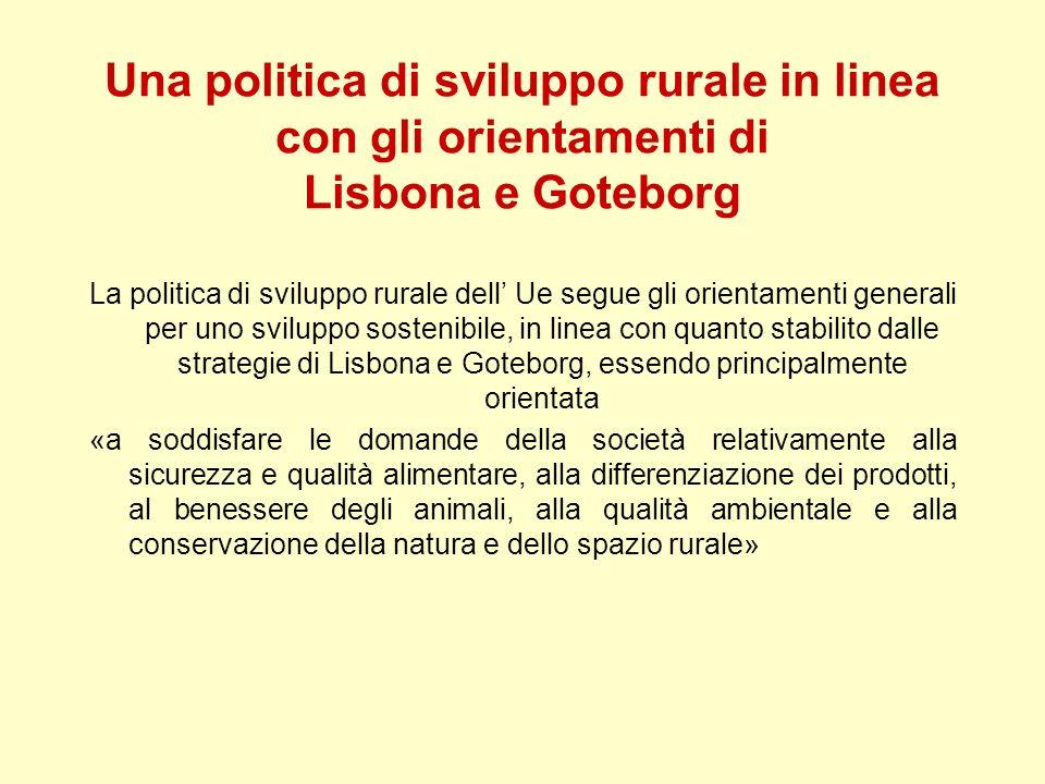 Una politica di sviluppo rurale in linea con gli orientamenti di Lisbona e Goteborg