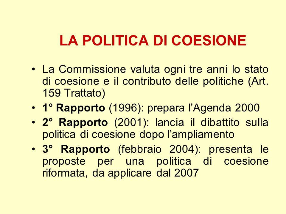 LA POLITICA DI COESIONE