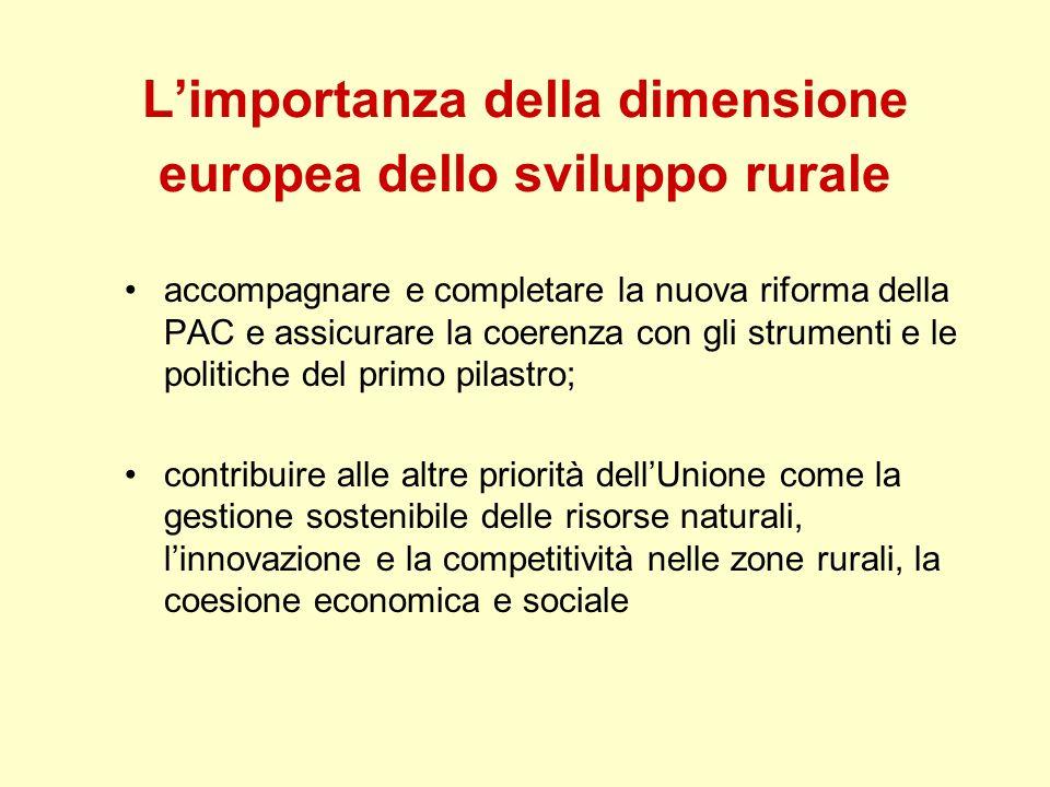 L'importanza della dimensione europea dello sviluppo rurale
