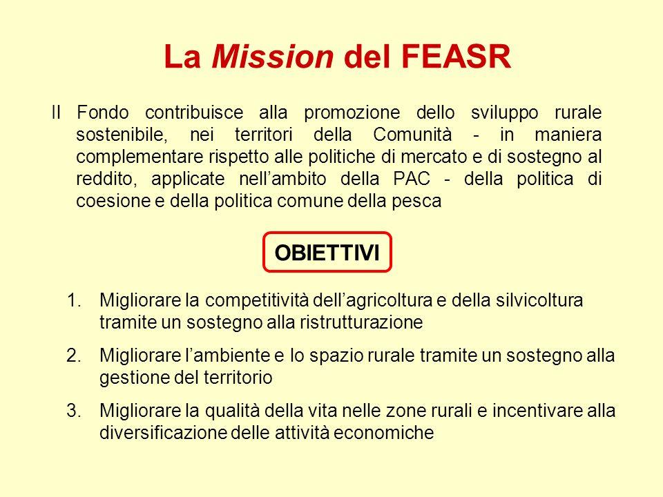 La Mission del FEASR OBIETTIVI