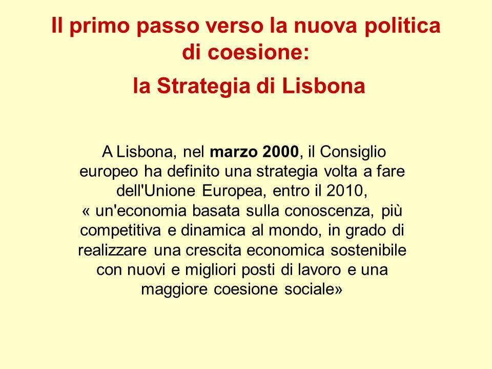 Il primo passo verso la nuova politica di coesione: la Strategia di Lisbona