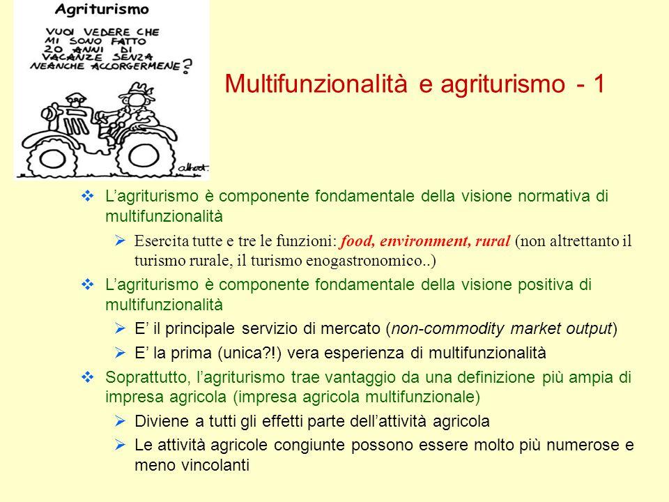 Multifunzionalità e agriturismo - 1