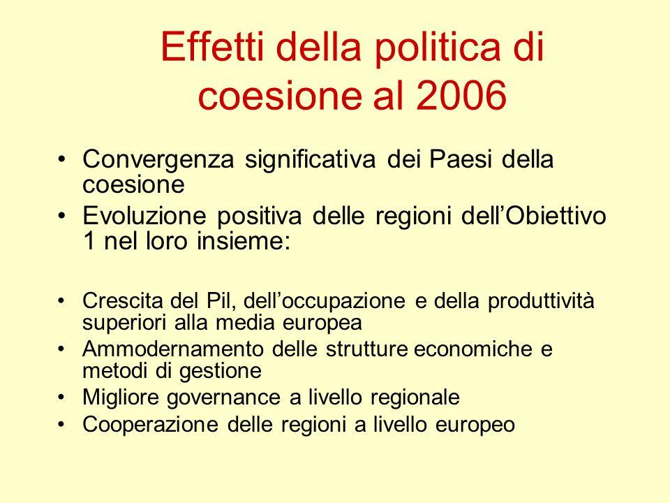 Effetti della politica di coesione al 2006