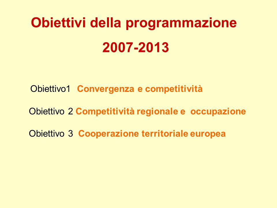 Obiettivi della programmazione