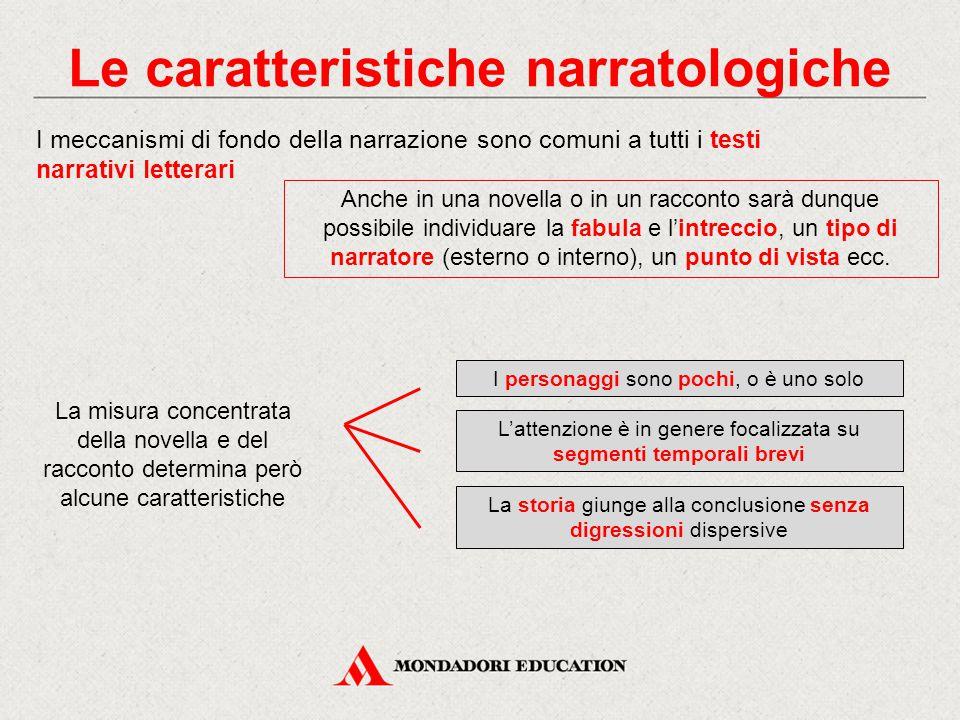 Le caratteristiche narratologiche