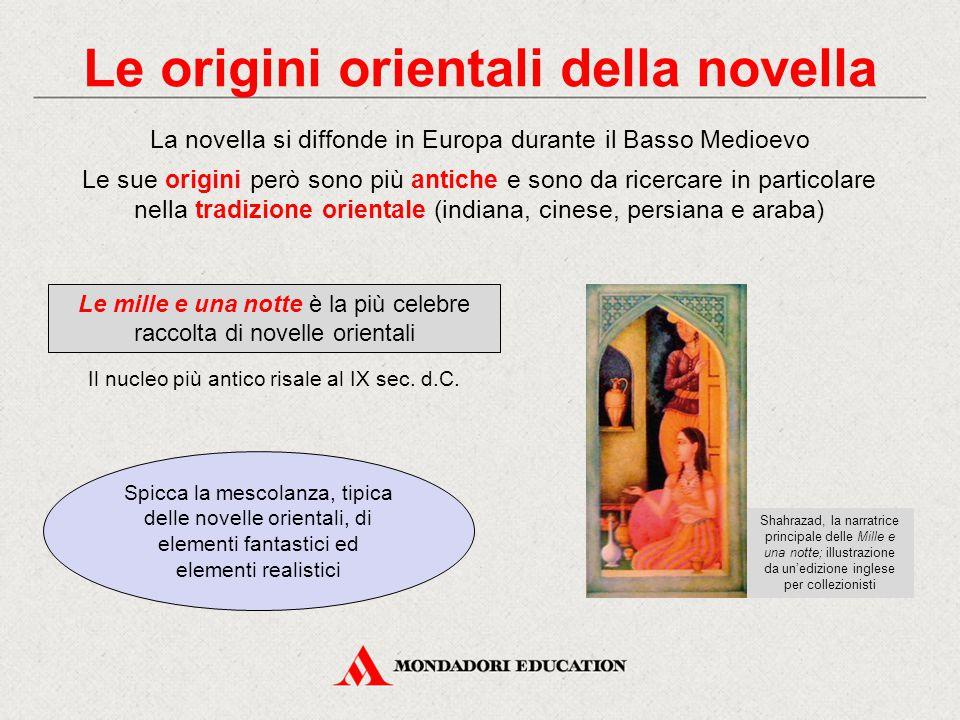Le origini orientali della novella
