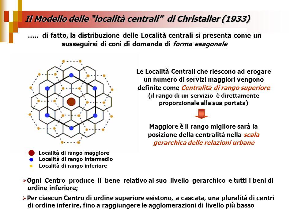Il Modello delle località centrali di Christaller (1933)