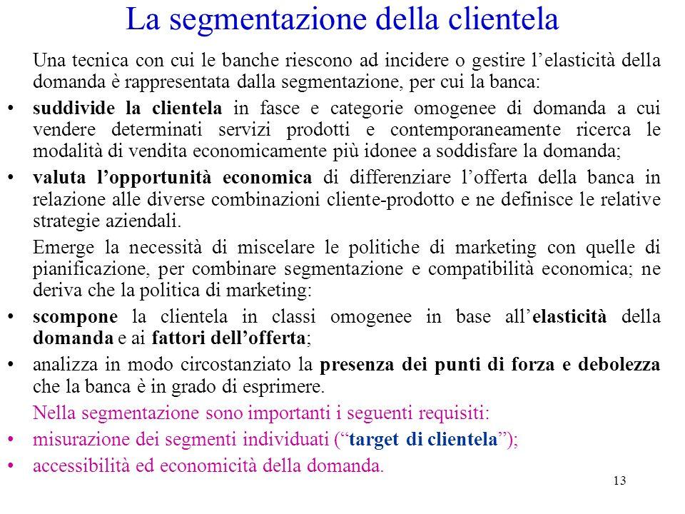 La segmentazione della clientela
