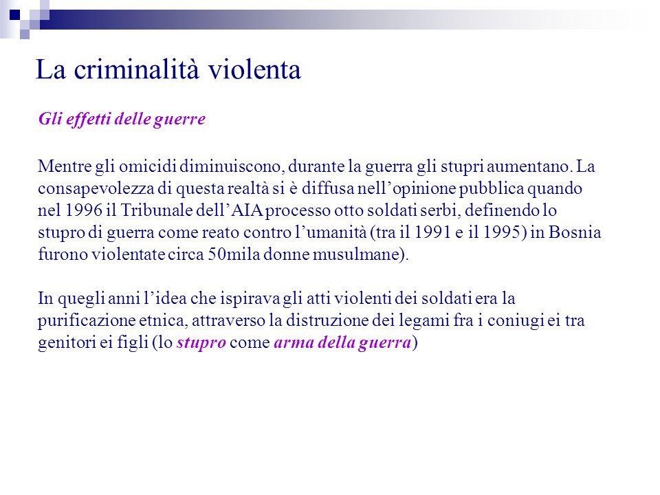 La criminalità violenta