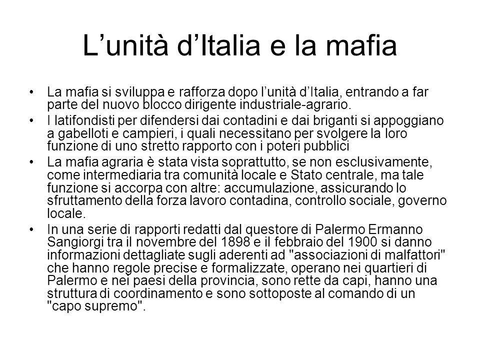 L'unità d'Italia e la mafia