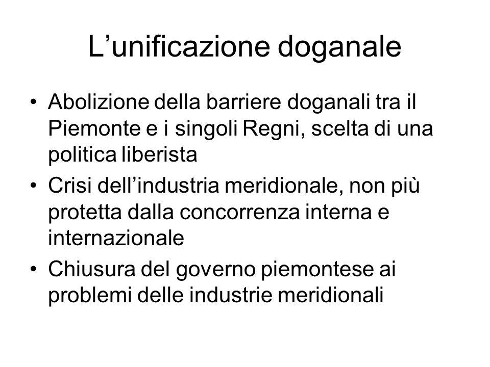 L'unificazione doganale