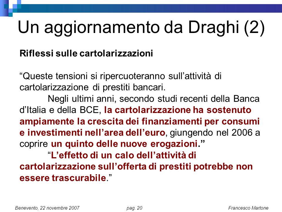 Un aggiornamento da Draghi (2)
