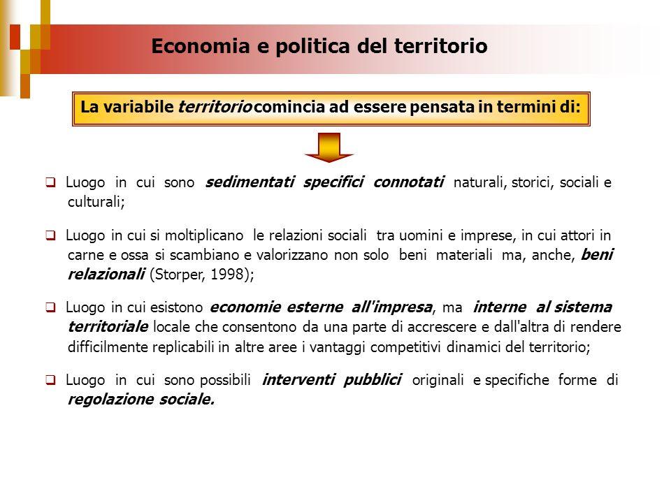 Economia e politica del territorio