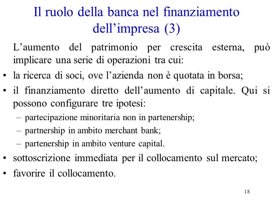Il ruolo della banca nel finanziamento dell'impresa (3)