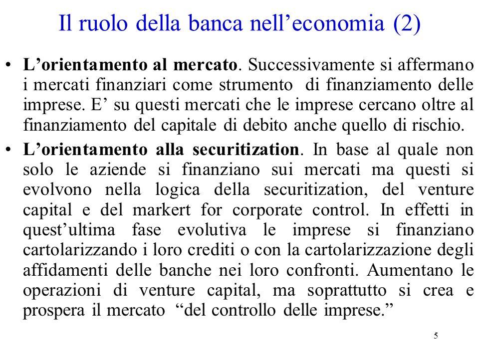 Il ruolo della banca nell'economia (2)