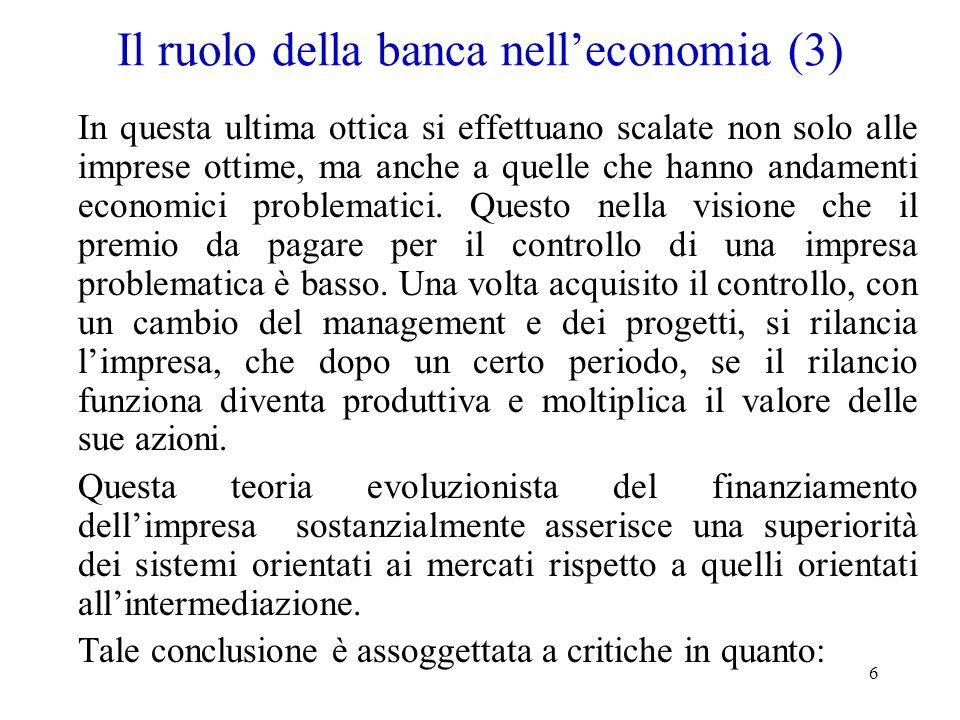 Il ruolo della banca nell'economia (3)