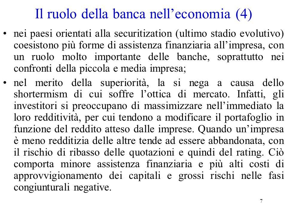 Il ruolo della banca nell'economia (4)